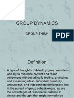 Group Dynamics Group Think)