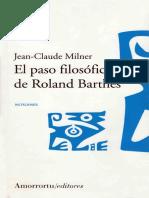 Milner, Jean-Claude - El Paso Filosófico de Roland Barthes