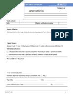 Form IPI 18 Defect Notification