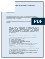Asignación a Cargo Del Facilitador - Acta Constitutiva