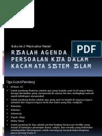 Risalah Agenda Persoalan Kita Dalam Kacamata Sistem Islam