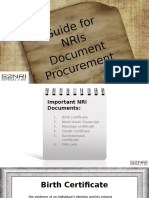 Guide for NRIs Document Procurement