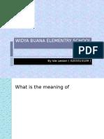 Widya Buana Elementry School