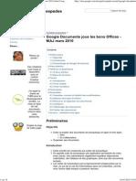 Google Documents Joue Les b..