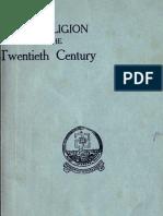 The Religion of Twentieth Century - By Swami Abhedananda