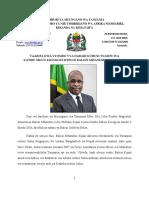 Press Release - Katibu Mkuu Kiongozi Mteule