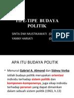 Tipe-tipe Budaya Politik