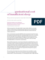 The Organizational Cost of Insufficient Sleep
