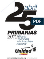 Centros de Votación para las Primarias 25/04/2010