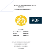 Earthwork and Heavy Equipment Final Report
