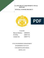 Earthwork and Heavy Equipment Final Report