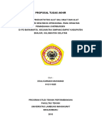 contoh Cover Dan Daftar Isi proposal Tugas Akhir