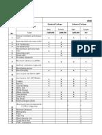 Copy of Comparison Table for Annual Health Check