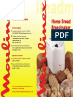 Moulinex Breadmaker Recipe Book