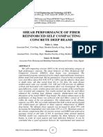SHEAR PERFORMANCE OF FIBER REINFORCED SELF COMPACTING CONCRETE DEEP BEAMS