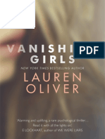 VANISHING GIRLS by Lauren Oliver - first chapter extract