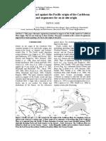Hipotesis Origen Placa Del Caribe en El Pacifico