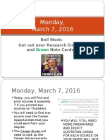 monday march 7 2016