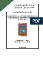REGLAMENTO DE CONCESION
