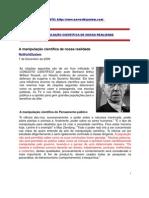 A MANIPULAÇÃO CIENTÍFICA DE NOSSA REALIDADE