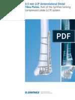 3.5 Mm LCP Anterolateral Distal de Tibia