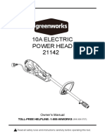 Greenworks 21142 Power Head Manual E