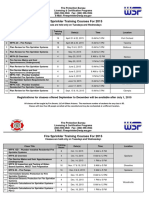 Sprinkler Training Course Listings