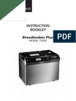 17892 Bread Maker Plus IB