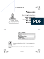 Panasonic KX-TGA110EX Manual