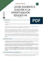 Guía I - Innovación docente e iniciación a la investigación educativa