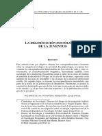 Brunet - La Delimitación Sociológica de La Juventud