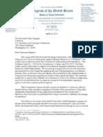 Issa Letter on Goldman suit