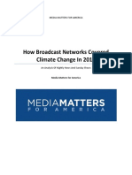Media Matters Climate Broadcast Study 2015