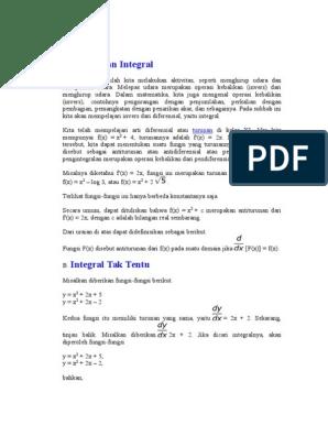 Contoh Soal Integral Parsial Kuliah