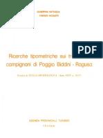 Fabrizio Nicoletti e Giuseppina Battaglia, Ricerche tipometriche sui tranchets campignani di Poggio Biddini - Ragusa