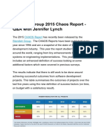 Standish Group 2015 Chaos Report - Q&A With Jennifer Lynch