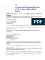 (Adjusting a Firm's Capital Structure) Curley's Fried Chicken Kitchen