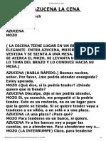 De Azucena La Cena