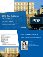2016 Tax Guideline for Romania