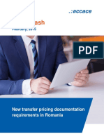 New transfer pricing documentation requirements in Romania