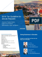 2016 Tax Guideline for Slovak Republic