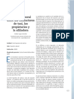 Relación Laboral Entre Los Conductores de Taxi, Los Propietarios y La Afiliadora