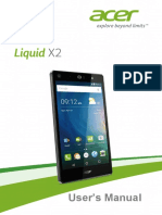 User Manual Acer Liquid X2