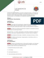 Lei Organica Guaratingueta SP