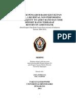 Skripsi - Akuntansi - Analisis Pengaruh Rasio Kecukupan Modal