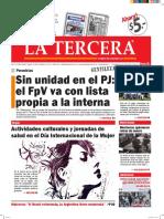 Diario La Tercera 07.03.2016