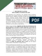DISCURSO XIII Asamblea Nacional ANEF 2010