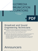 multimedia communication occupations