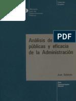 Subirats - Analisis de Politicas Publicas y Eficacia de La Administracion