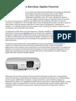Alquiler Proyectores Barcelona Alquilar Proyector
